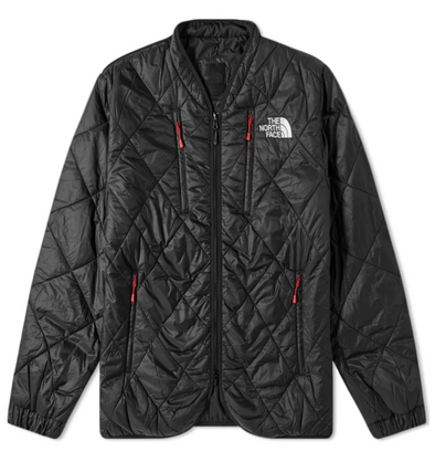 MEN'S TNF KK BLACK SERIES PADDED QUILT CARDIGAN - TNF BLACK