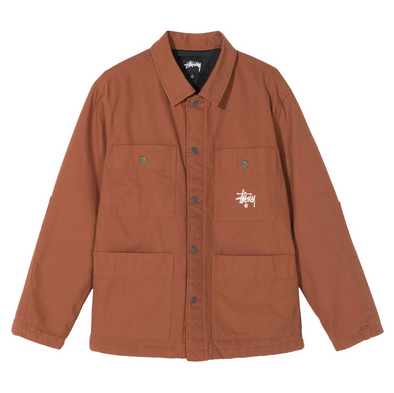 STUSSY QUILTED CHORE COAT - Brown