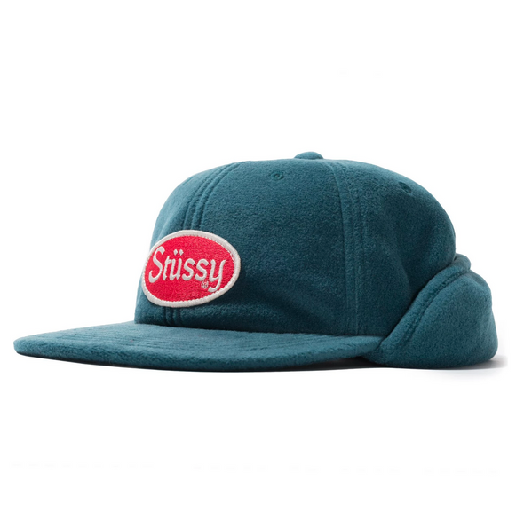 Stüssy Patch Ear Flap Cap / green