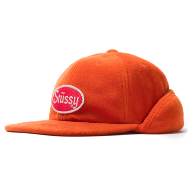 Stüssy Patch Ear Flap Cap \ ORG