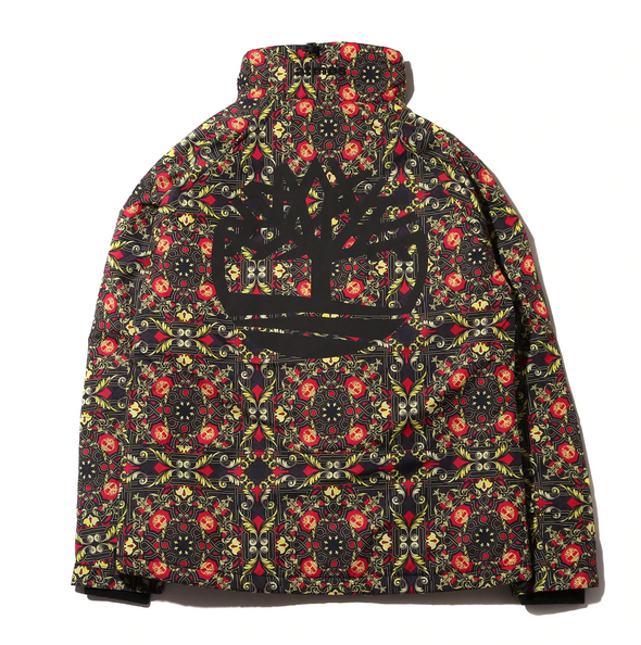 ATMOS x TIMBERLAND SCARF INSULATED PULLOVER JACKET - Black / Red / Gold