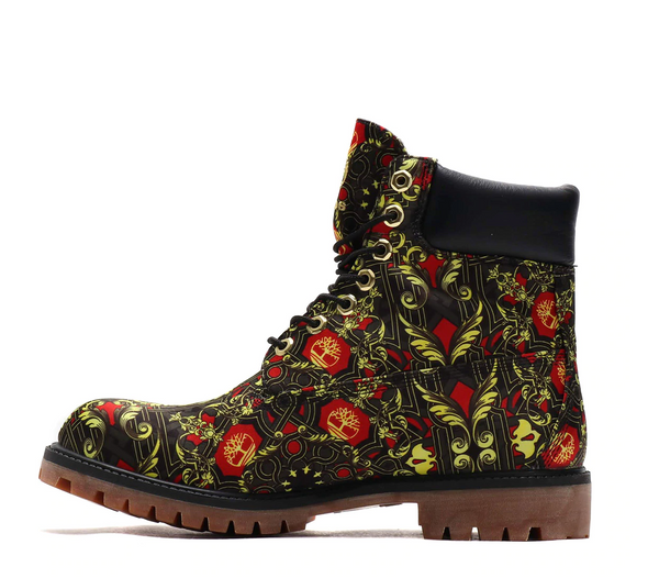 "ATMOS x TIMBERLAND 6"" FABRIC BOOT - Black / Red / Gold"