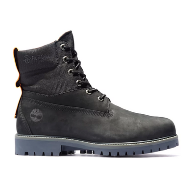 MEN'S TIMBERLAND 6-INCH WATERPROOF REBOTL™ TREADLIGHT BOOTS - BLACK NUBUCK