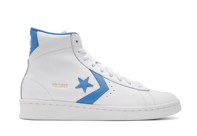 MEN'S CONVERSE PRO LEATHER MID - WHITE/COAST BLUE/WHITE