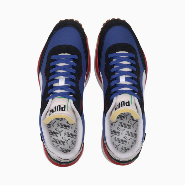 PUMA RIDER 020 PLAY ON - Daz Blue / P.Black-High Risk Red