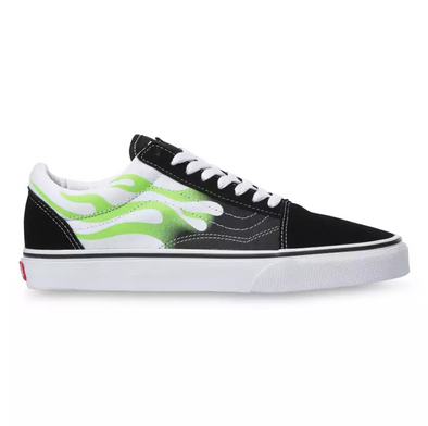 MEN'S VANS UA OLD SKOOL (FLAME) - BLACK/TRUE WHITE