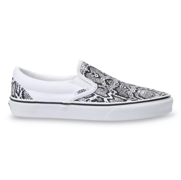 MEN'S VANS UA CLASSIC SLIP-ON (PYTHON) - WHITE/TRUE WHITE