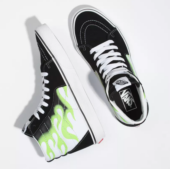 MEN'S VANS UA SK8-HI (FLAME) - BLACK/TRUE WHITE