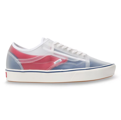 MEN'S VANS UA COMFYCUSH SLIP-SKOOL (CANVAS) - TRUE NAVY/RED