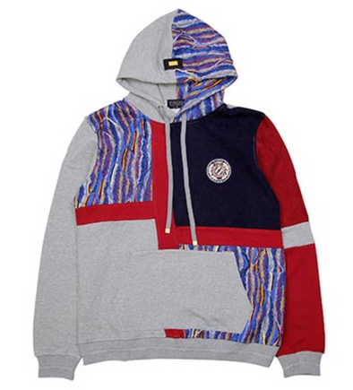 COOGI COLLAGE HOODY - Grey / Multi