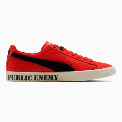 PUMA CLYDE x PUBLIC ENEMY - High Risk Red / Black