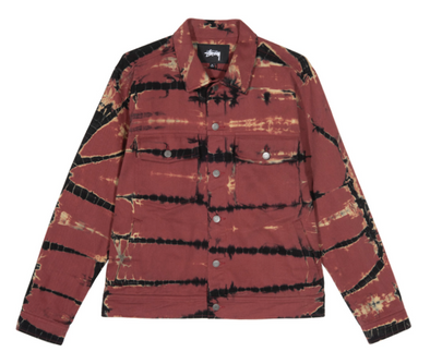 MEN'S STUSSY RIP DYE RANCH JACKET - BRICK