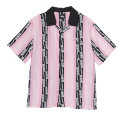 MEN'S STUSSY DECO STRIPED SHIRT - PINK