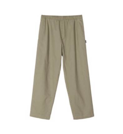 MEN'S STUSSY BRUSHED BEACH PANT - OLIVE