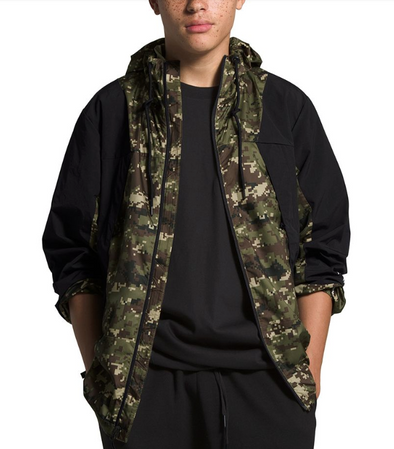 MEN'S TNF PERIL WIND JACKET - BURNT OLIVE GREEN UX DIGI CAMO PRINT