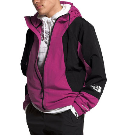 MEN'S TNF PERIL WIND JACKET - WILD ASTER/TNF BLACK/WILD ASTER