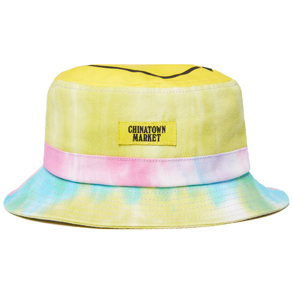 CHINATOWN MARKET SMILEY TIE DYE BUCKET HAT - MULTI