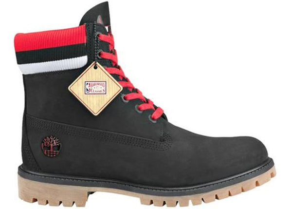 MEN'S TIMBERLAND X MITCHELL & NESS X NBA 6-INCH PREMIUM BOOTS - Black/Red (BULLS)