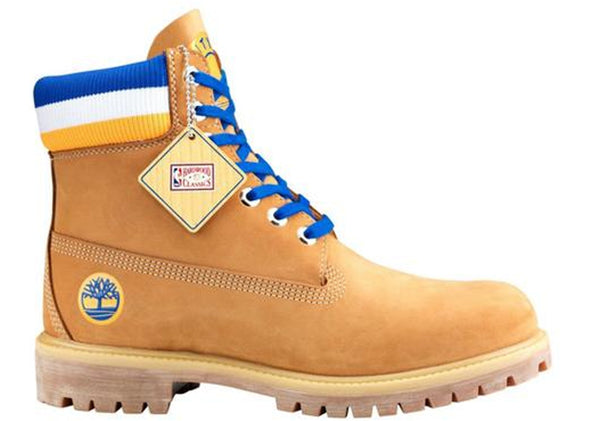 MEN'S TIMBERLAND X MITCHELL & NESS X NBA 6-INCH PREMIUM BOOTS - Wheat/Blue ( Golden State Warriors )