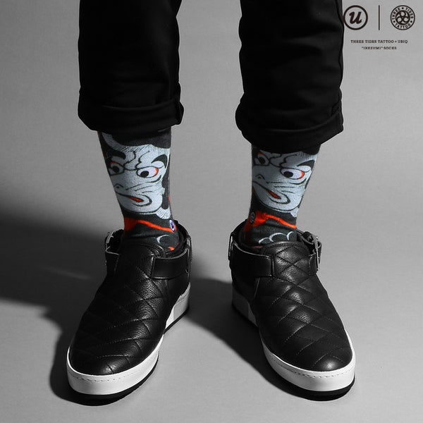 "THREE TIDES TATTOO × UBIQ ""IREZUMI"" SOCKS Karasutengu"