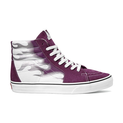 MEN'S VANS UA SK8-HI (FLAME) - DARK PURPLE