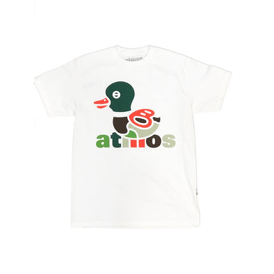 ATMOS NYC '15th Anniversary' DUCK CAMO TEE - WHITE