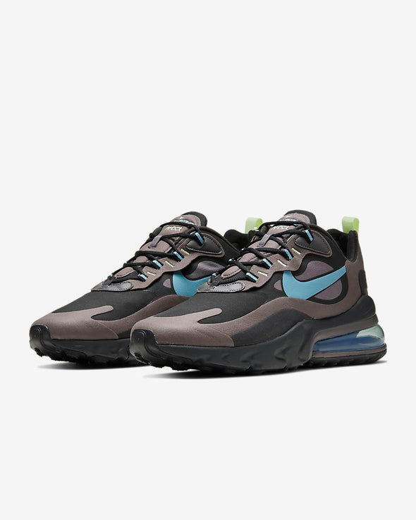 MEN'S NIKE AIR MAX 270 REACT - BLACK/CERULEAN-THUNDER GREY-BARELY VOLT