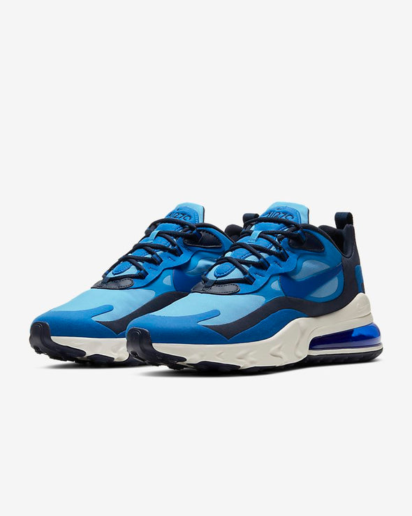 MEN'S NIKE AIR MAX 270 REACT - PACIFIC BLUE /HYPER BLUE-UNIVERSITY BLUE