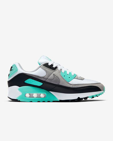 WMNS NIKE AIR MAX 90 - WHITE/PARTICLE GREY-HYPER TURQ-BLACK