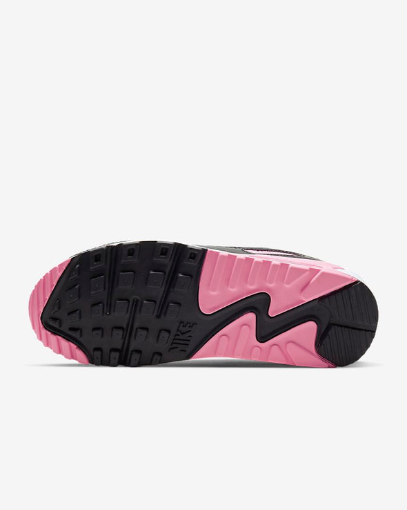 WMNS NIKE AIR MAX 90 - WHITE/PARTICLE GREY-ROSE-BLACK