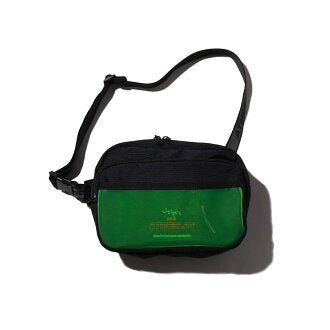 JOHN'S x ATMOS LAB WAIST BAG - Black / Green
