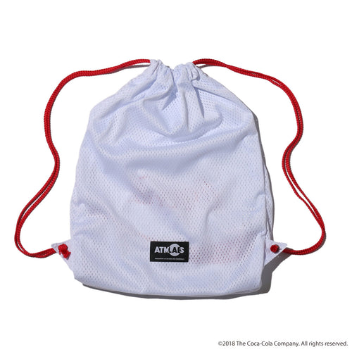 ATMOS LAB COCA - COLA by ATMOS LAB GYM SACK - White
