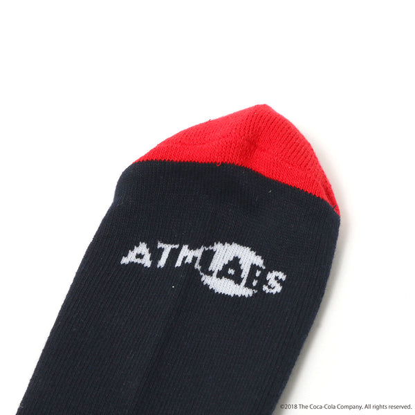 ATMOS LAB COCA - COLA by ATMOS LAB HAVE A GOOD DAY SOCKS - Navy