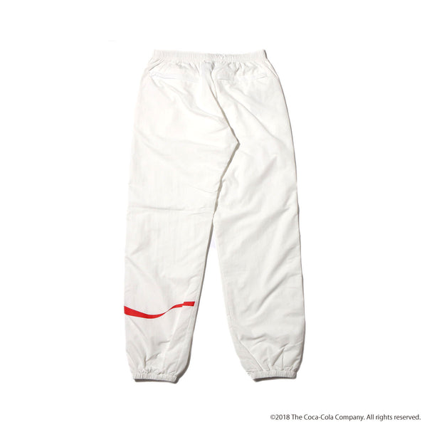 ATMOS LAB COCA - COLA by ATMOS LAB DRD NYLON TRACK PANTS - White