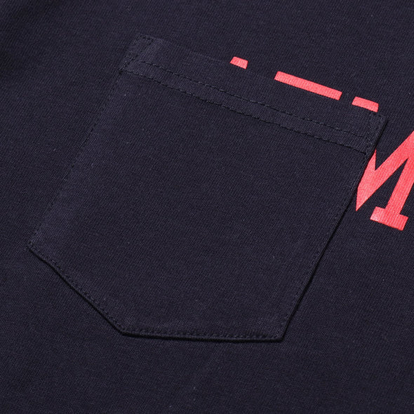 ATMOS LAB POCKET TEE - Navy
