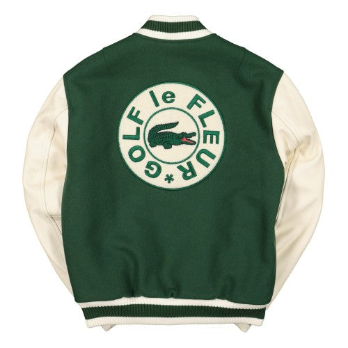 LACOSTE LIVE X TYLER THE CREATOR VASITY JACKET - Green / Geode