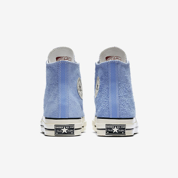 CONVERSE CHUCK TAYLOR ALL STAR '70 VINTAGE SUEDE HIGH TOP - PIONEER BLUE / EGRET / EGRET