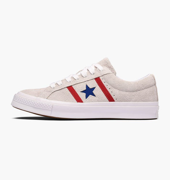 One Star Academy Low Top - White/Enamel Red