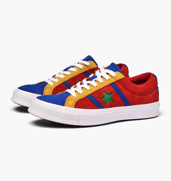 One Star Academy Low Top- Enamel Red/Blue