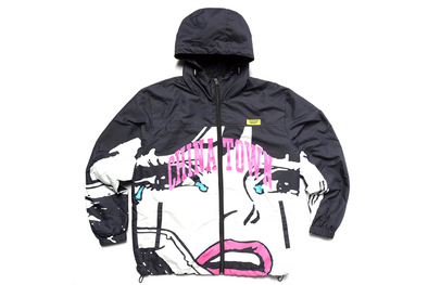CHINATOWN MARKET CRY WINDBREAKER - BLACK