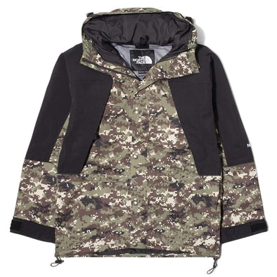 TNF 1994 RETRO MOUNTAIN LIGHT FUTURELIGHT™ JACKET - BURNT OLIVE GREEN UX DIGI CAMO PRINT