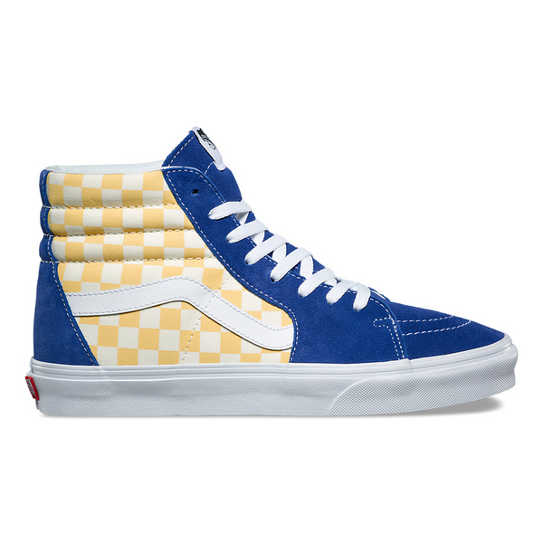 99840a4ec75f90 VANS BMX CHECKERBOARD SK8-HI - True Blue   Yellow – Atmos New York