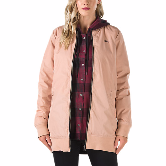 VANS BOOM BOOM LONG REVERSIBLE MTE JACKET - MAHOGANY ROSE