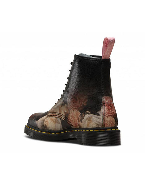 DR. MARTENS 1460 8-EYE POWER CORRUPTION - White/Black Rose Cristal