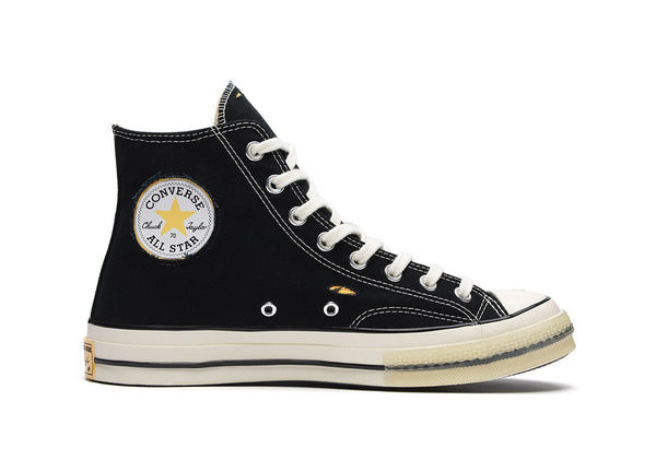 257449b89738 CONVERSE x DR. WOO CHUCK TAYLOR HI 70 - Black Canvas   Yellow ...