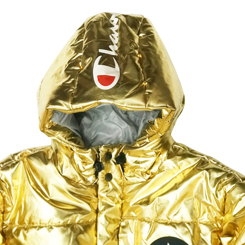 Champion USA Metallic Puffer Jacket - Metallic Gold