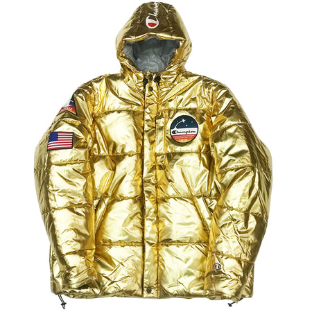 Champion USA Metallic Puffer Jacket - Metallic Silver