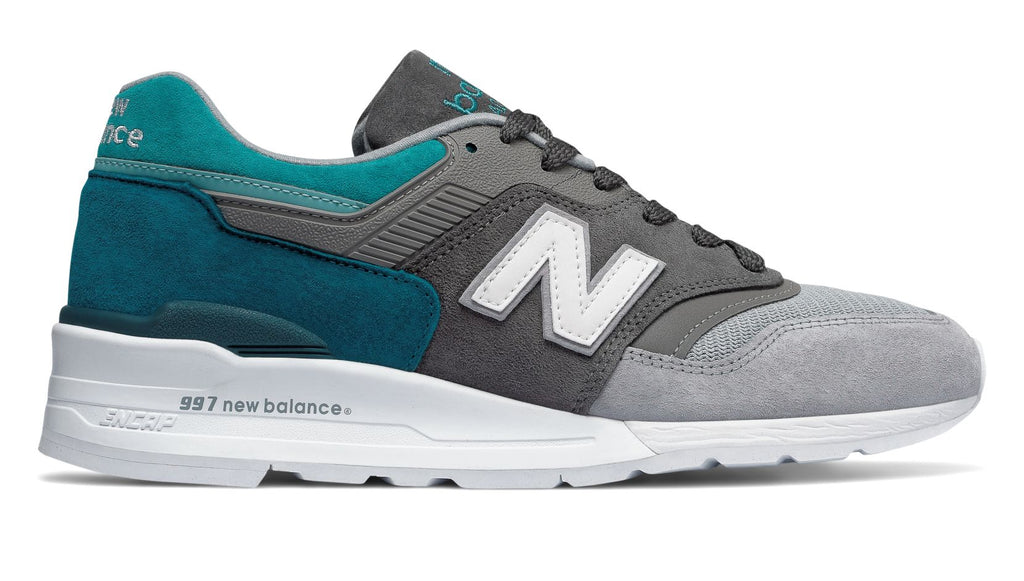 cd0a1ae352 NEW BALANCE 997 Made in US Color Spectrum - Castlerock with Lake Blue – Atmos  New York