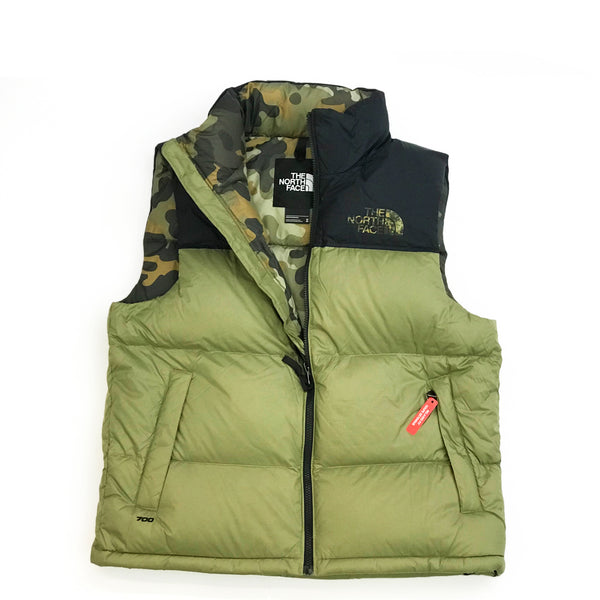 6e06c992f086 THE NORTH FACE 1996 RETRO NUPTSE VEST - TUMBLEWEED GREEN NEW TAUPE GRE –  Atmos New York
