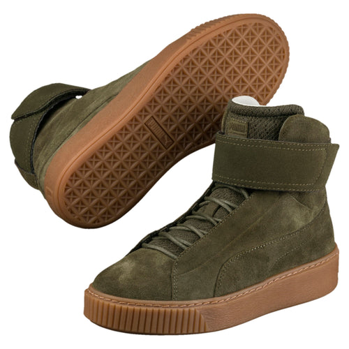 PUMA PLATFORM MID OW WOMEN'S HIGH TOP - Olive Night-Olive Night